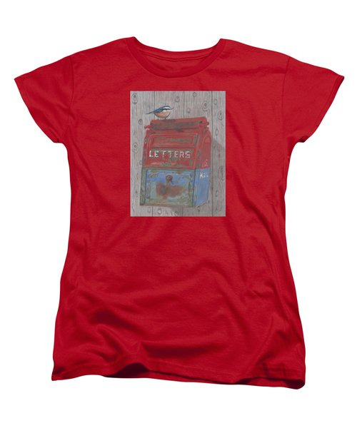 Women's T-Shirt (Standard Cut) featuring the painting Mail Call by Arlene Crafton