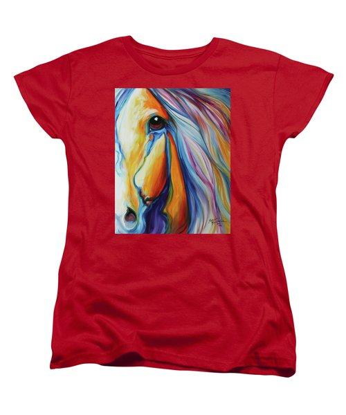 Majestic Equine 2016 Women's T-Shirt (Standard Cut) by Marcia Baldwin