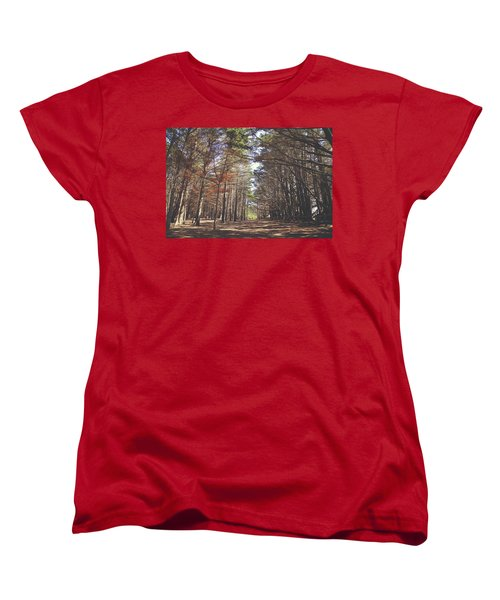 Women's T-Shirt (Standard Cut) featuring the photograph Making Our Way Through by Laurie Search