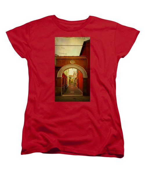 Women's T-Shirt (Standard Cut) featuring the photograph Malamocco Arch No1 by Anne Kotan