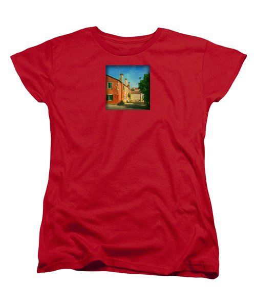 Women's T-Shirt (Standard Cut) featuring the photograph Malamocco Corner No1 by Anne Kotan