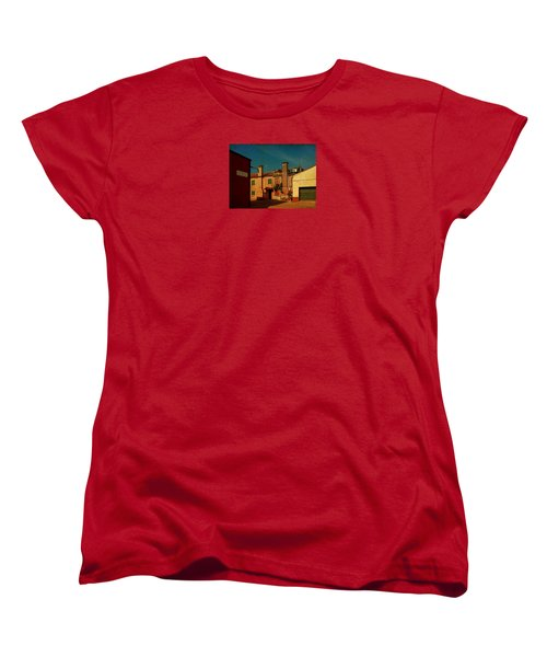 Women's T-Shirt (Standard Cut) featuring the photograph Malamocco House No2 by Anne Kotan