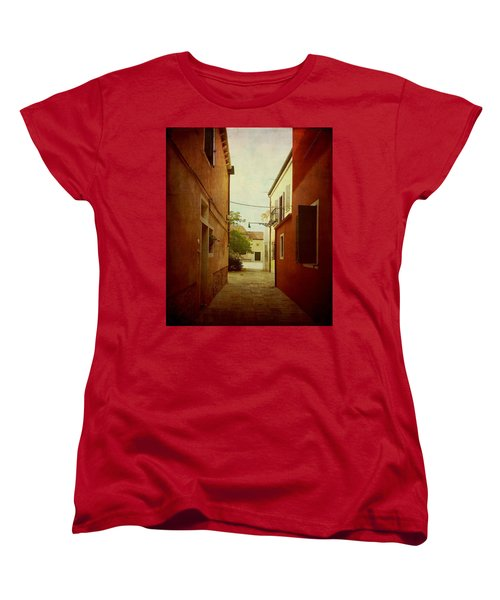 Women's T-Shirt (Standard Cut) featuring the photograph Malamocco Perspective No2 by Anne Kotan