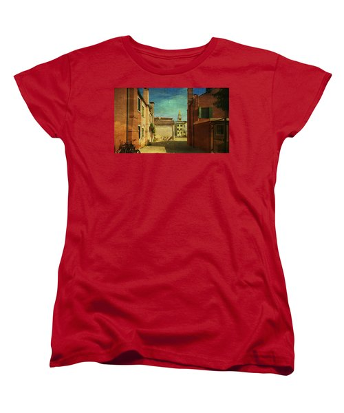 Women's T-Shirt (Standard Cut) featuring the photograph Malamocco Perspective No3 by Anne Kotan