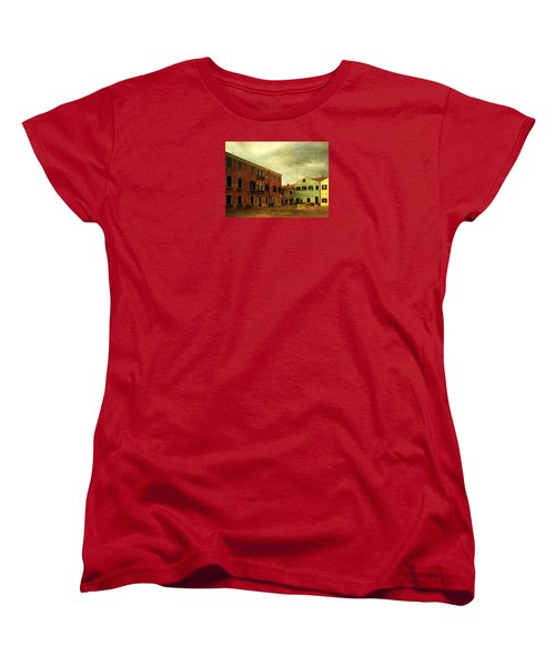 Women's T-Shirt (Standard Cut) featuring the photograph Malamocco Piazza No1 by Anne Kotan