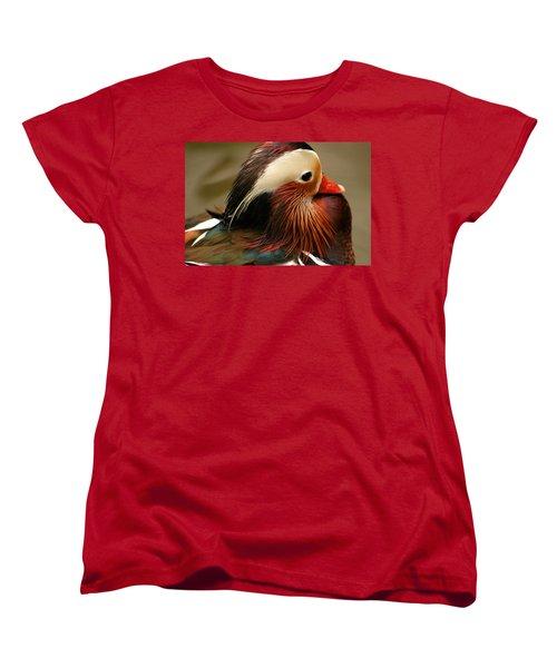 Male Mandarin Duck China Women's T-Shirt (Standard Cut) by Ralph A  Ledergerber-Photography