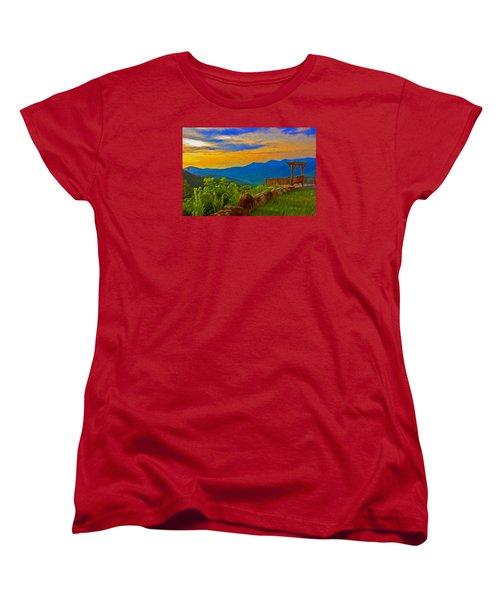 Blue Ridge Sunset From Mama Gertie's Hideaway Women's T-Shirt (Standard Cut)
