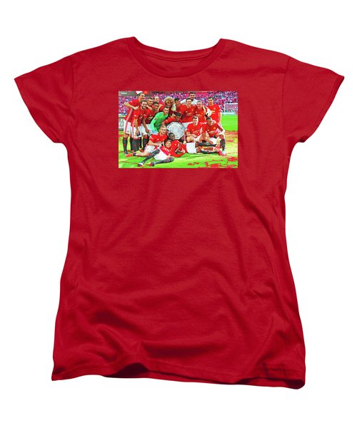 Manchester United Celebrates Women's T-Shirt (Standard Cut) by Don Kuing