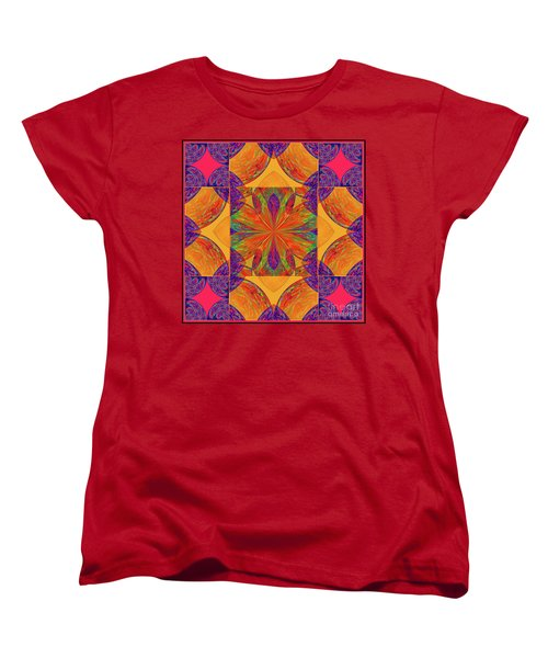 Women's T-Shirt (Standard Cut) featuring the digital art Mandala #2  by Loko Suederdiek