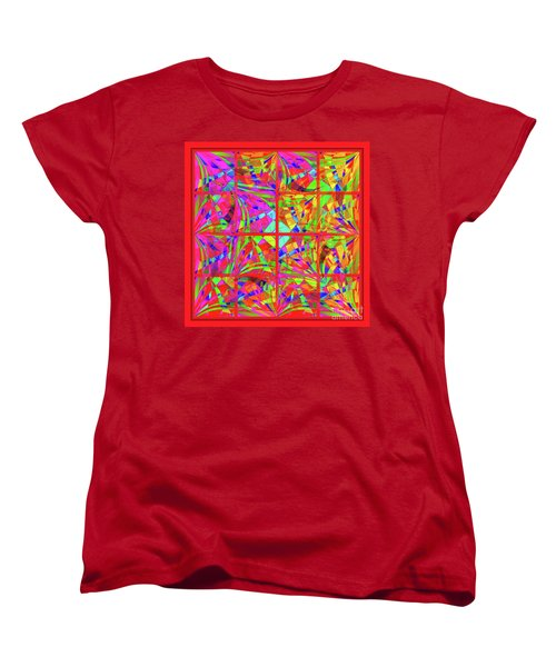 Women's T-Shirt (Standard Cut) featuring the digital art Mandala #48 by Loko Suederdiek