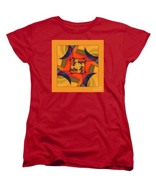 Women's T-Shirt (Standard Cut) featuring the digital art Mandala #56 by Loko Suederdiek
