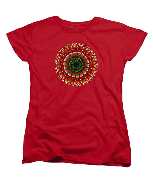 Women's T-Shirt (Standard Cut) featuring the photograph Mandala Tulipa By Kaye Menner by Kaye Menner