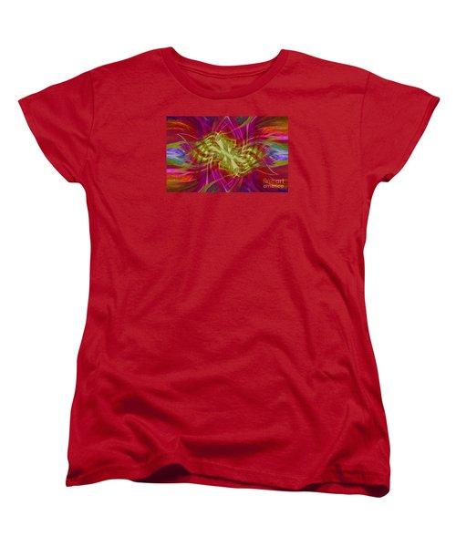 Women's T-Shirt (Standard Cut) featuring the photograph Mandala Swirl 02 by Jack Torcello