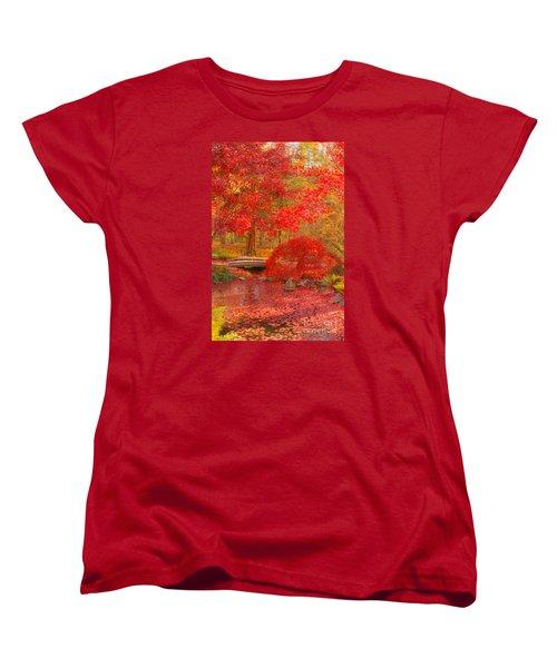 Women's T-Shirt (Standard Cut) featuring the photograph Maple Bridge by Geraldine DeBoer
