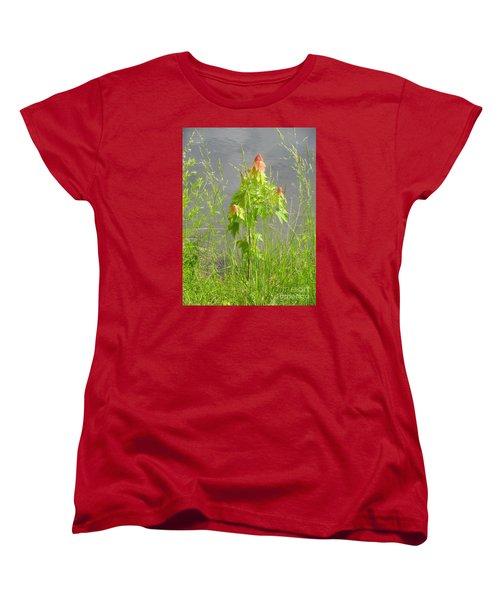 Maple On Lake Women's T-Shirt (Standard Cut) by Craig Walters