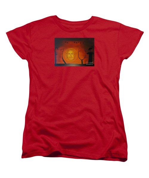 Women's T-Shirt (Standard Cut) featuring the painting Marco Borsato by Jeepee Aero