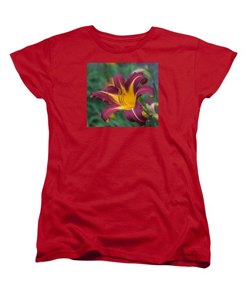Women's T-Shirt (Standard Cut) featuring the photograph Maroon And Gold by Arlene Carmel