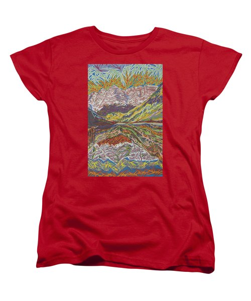 Maroon Bells Women's T-Shirt (Standard Cut) by Robert SORENSEN