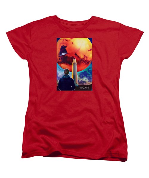 Mars Dreamer Women's T-Shirt (Standard Cut) by Ted Azriel