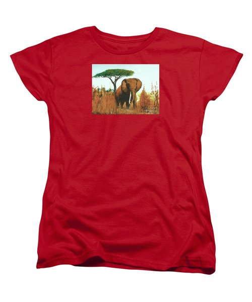 Marsha's Elephant Women's T-Shirt (Standard Cut) by Donna Dixon