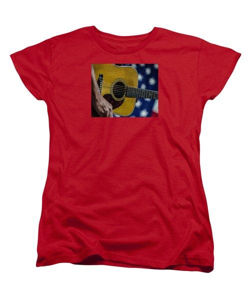 Women's T-Shirt (Standard Cut) featuring the photograph Martin Guitar 1 by Jim Mathis