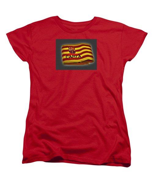 Women's T-Shirt (Standard Cut) featuring the photograph Mas Que Un Capitan - Carles Puyol by Juergen Weiss