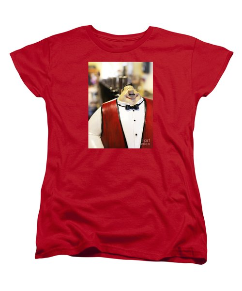 Women's T-Shirt (Standard Cut) featuring the photograph May I Take Your Wine Order by Cheryl Del Toro