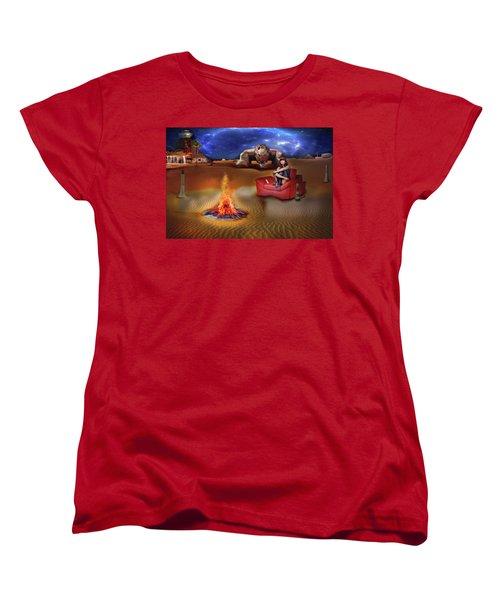 Women's T-Shirt (Standard Cut) featuring the digital art Mazzy Stars by Michael Cleere