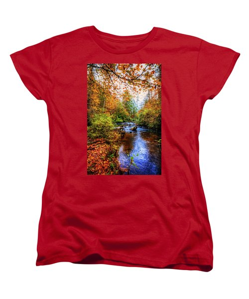 Women's T-Shirt (Standard Cut) featuring the photograph Meandering In The Mountains by Debra and Dave Vanderlaan