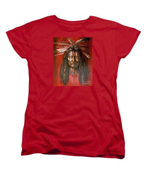 Medicine Man Women's T-Shirt (Standard Cut) by Arturas Slapsys