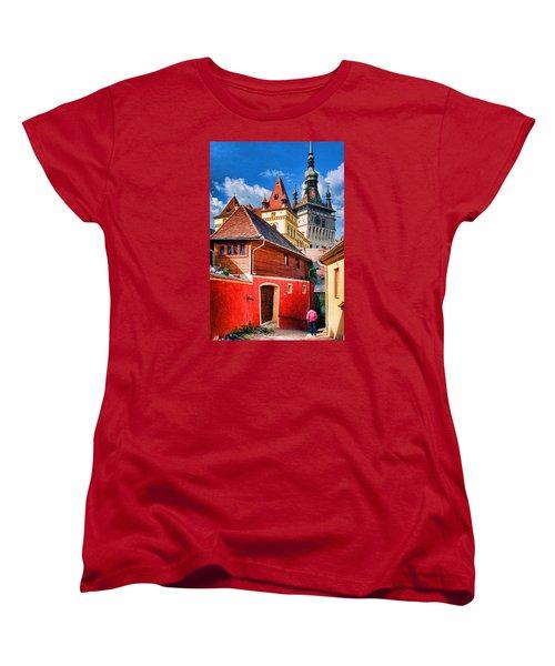 Medieval Sighisoara Women's T-Shirt (Standard Cut) by Dennis Cox WorldViews