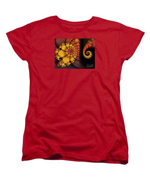 Women's T-Shirt (Standard Cut) featuring the digital art Meeting by Karin Kuhlmann