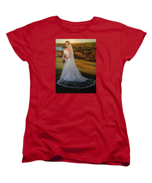 Women's T-Shirt (Standard Cut) featuring the painting Melissa by Alan Lakin