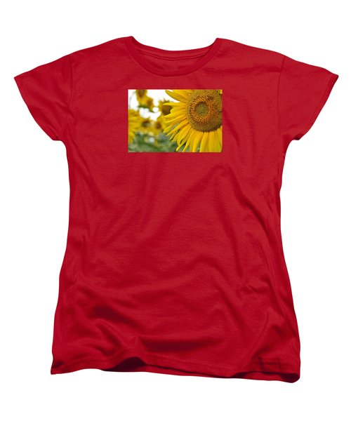 Mellow Yellow Women's T-Shirt (Standard Cut) by Joanne Brown