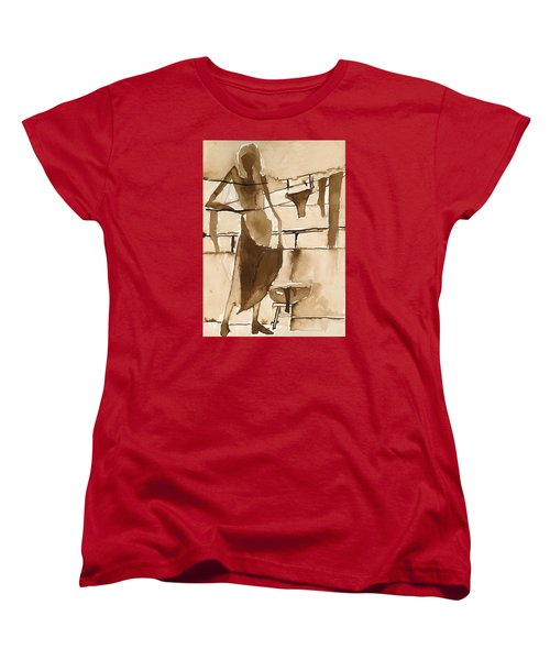 Women's T-Shirt (Standard Cut) featuring the painting Memories From Childhood by Maya Manolova