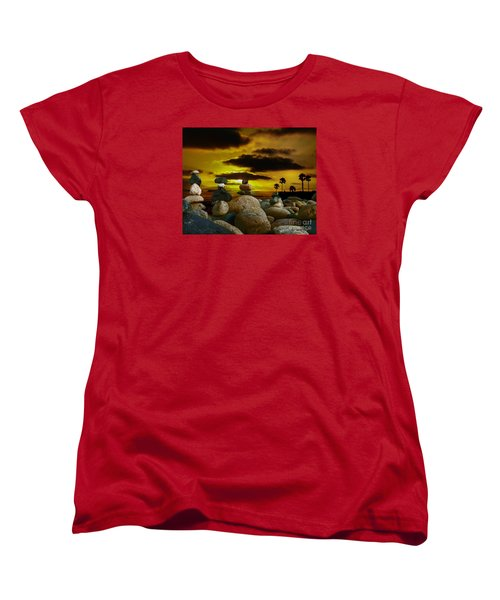 Women's T-Shirt (Standard Cut) featuring the digital art Memories In The Twilight by Rhonda Strickland