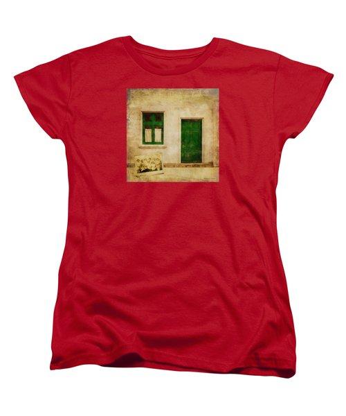 Women's T-Shirt (Standard Cut) featuring the painting Memories Of Irish Green by Bellesouth Studio