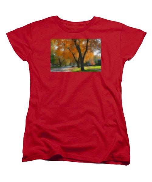 Memory Of An Autumn Day Women's T-Shirt (Standard Cut) by Lyle Hatch