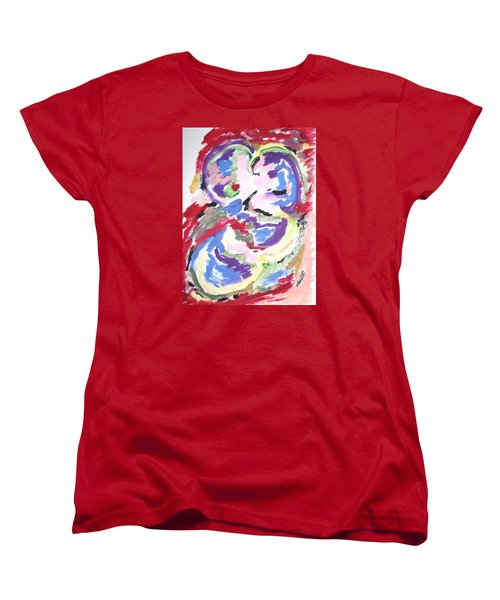 Women's T-Shirt (Standard Cut) featuring the painting Mental Preoccupation by Esther Newman-Cohen