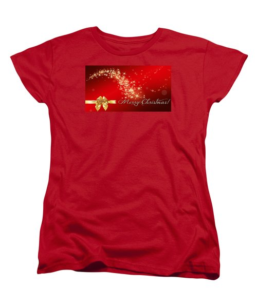 Women's T-Shirt (Standard Cut) featuring the photograph Merry Christmas Christmas Card by Bellesouth Studio