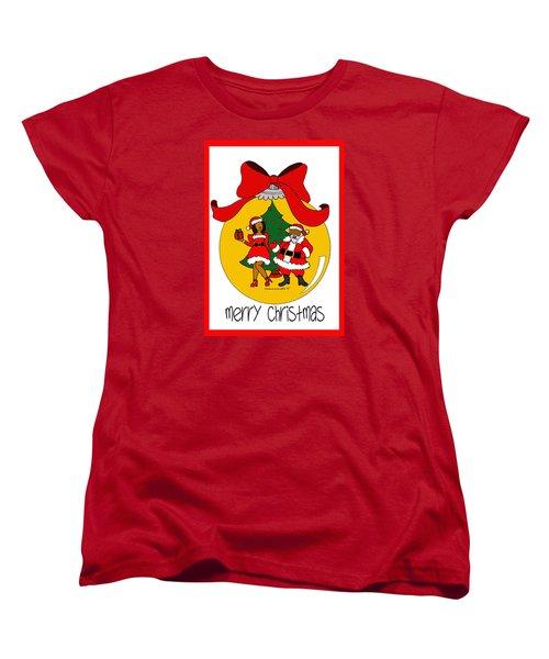 Merry Christmas Women's T-Shirt (Standard Cut) by Diamin Nicole