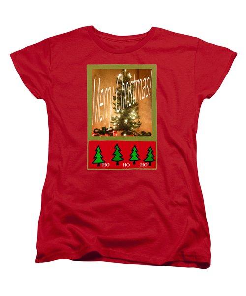 Merry Christmas Hohoho Women's T-Shirt (Standard Cut) by Barbie Corbett-Newmin