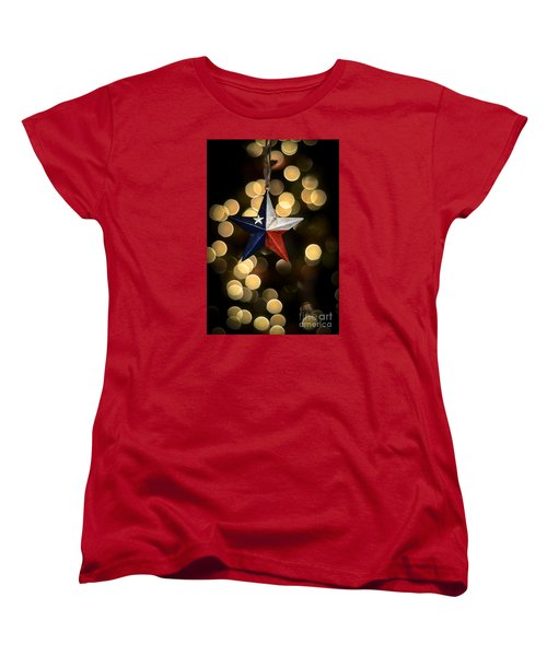 Women's T-Shirt (Standard Cut) featuring the photograph Merry Christmas Texas by Kelly Wade