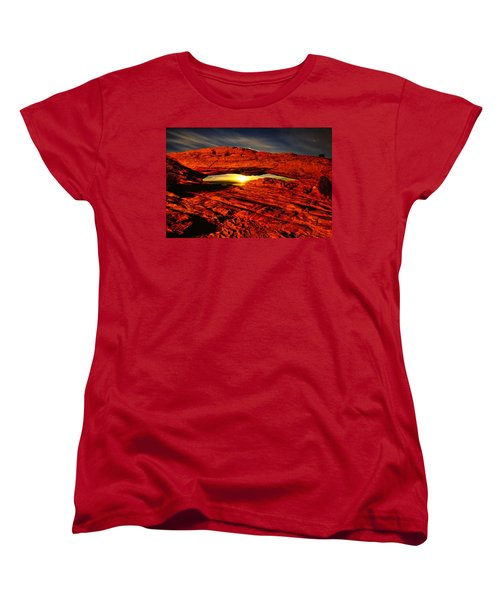Mesa Arch Moonshine Women's T-Shirt (Standard Cut) by Greg Norrell