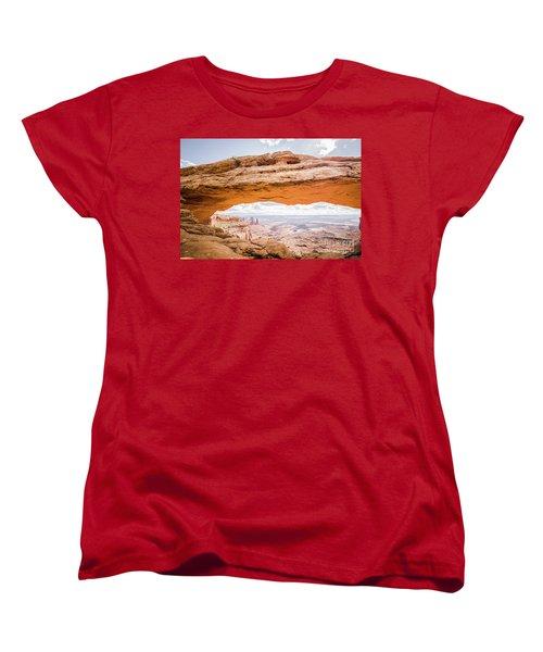 Mesa Arch Sunrise Women's T-Shirt (Standard Cut) by JR Photography