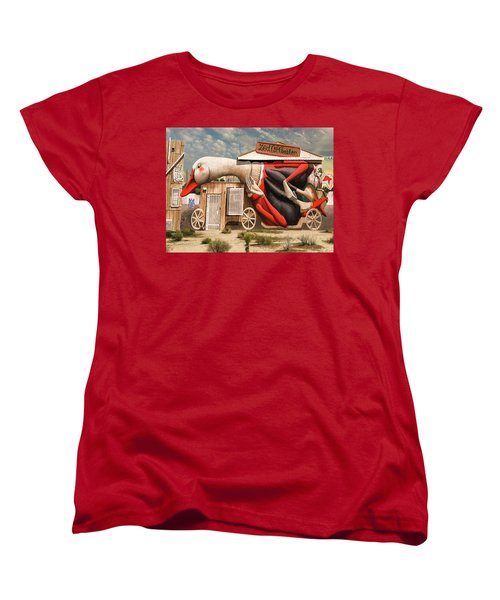 Miami Graffiti Women's T-Shirt (Standard Cut) by Jeff Burgess