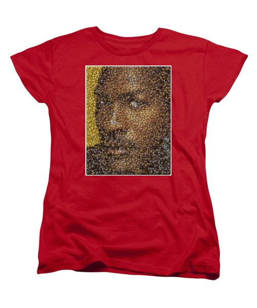 Women's T-Shirt (Standard Cut) featuring the digital art Michael Jordan Money Mosaic by Paul Van Scott