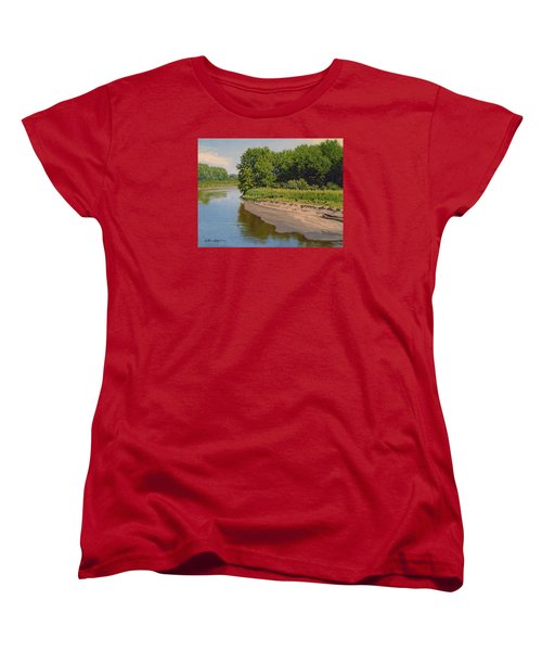 Mid Summer Prairie Stream Women's T-Shirt (Standard Cut) by Bruce Morrison
