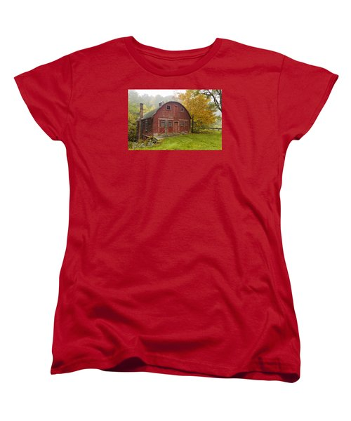 Women's T-Shirt (Standard Cut) featuring the photograph Mill In Autumn by Tom Singleton