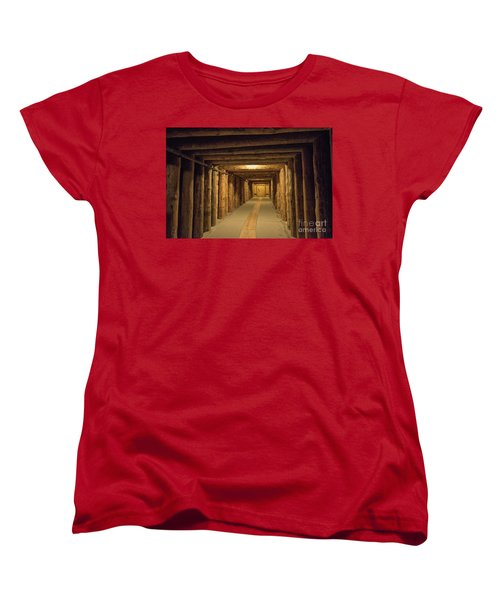 Women's T-Shirt (Standard Cut) featuring the photograph Mining Tunnel by Juli Scalzi
